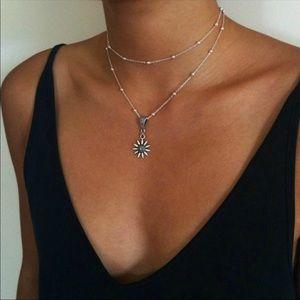 Jewelry - • Amelia • Dainty Sunflower Necklace